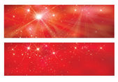 Vector red banners for design. — Stock Vector