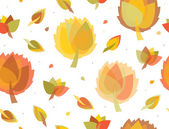 Seamless autumnal background. — Stock Vector
