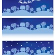 Stock Vector: Vector Christmas banners.