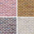 Seamless texture of stonewall — Stock Vector