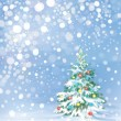 Christmas tree and decorations  — Image vectorielle