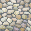 texture of pebble stonewall. — Stockvektor