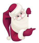 Santa claus escondido por blank — Vector de stock