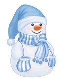 Snowman isolated. — Stock Vector