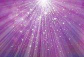 Vector glitter violet background with rays of lights and stars. — Stock Vector