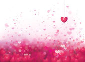 Pink background with hearts. — Stock Vector