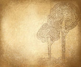 Vector abstract trees on grunge background. — Stockvektor