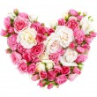 Roses flowers heart shape isolated. — Stockfoto #38910653