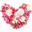 Roses flowers heart shape isolated. — Stock Photo #38910653