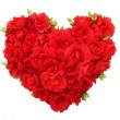 Roses flowers heart shape isolated. — Stock Photo #38910695