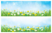 Vector nature spring backgrounds. — Stock Vector