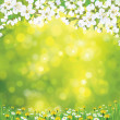 Vector blossoming tree on spring background. — Stock Vector #39772769