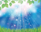 Vector nature background. — Stock Vector