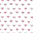 Vector seamless hearts pattern. — Stockvector
