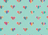 Vector seamless hearts pattern. — Stock Vector