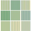 Set of striped seamless retro patterns — 图库矢量图片