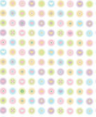 Vector cute seamless pattern — Vettoriale Stock