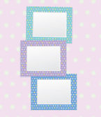 Vector colorful empty photo frames. — Vettoriale Stock