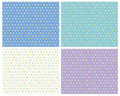Polka dots seamless colorful patterns — Stock Vector