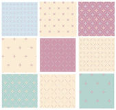 Vector set retro seamless patterns. — Stock Vector