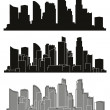 Vector cities silhouettes. — Stock Vector #46593327