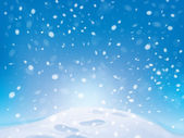 Vector winter snowfall background with footpath. — Stock Vector