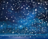 Vector snowfall background. — Stock Vector