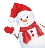 Vector happy snowman. — Stock Vector