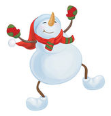 Vector dancing snowman. — Vetorial Stock