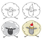 Vector sheep  cartoons isolated. — ストックベクタ