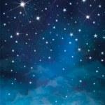 Vector night starry sky background. — Stock Vector #48946195