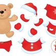 Bear toy with Santa Claus costume — Stock Vector #48946481
