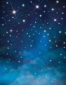 Vector night starry sky background. — Stock Vector