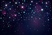 Vector night starry sky background. — Vector de stock