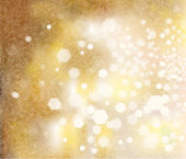 Vector golden sparkling background with lights and snowflakes pa — Stock Vector