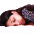 Indian girl sleeping — Stock Photo