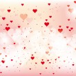 Beautiful abstract background for valentines day with hearts — Stock Vector