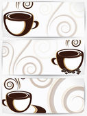 Cup of coffee or tea with floral design elements — Stock Vector