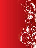 Abstract floral achtergrond voor design met wervelingen — Stockvector