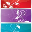 Stock Vector: Abstract floral background for design with swirls