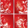 Abstract Christmas winter background  for new year — Stock Vector