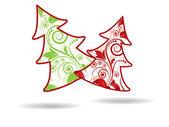 新しい年のための抽象的なクリスマス冬背景 — ストックベクタ