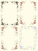 Floral frame met wervelingen en plaats voor tekst — Stockvector