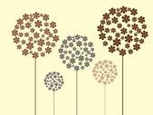 Floral achtergrond met bloemen — Stockvector
