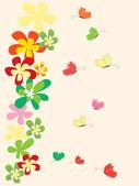 Floral φόντο με λουλούδια — Διανυσματικό Αρχείο