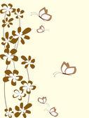 цветочный фон с цветами — Cтоковый вектор