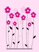 Sfondo floreale con fiori — Vettoriale Stock