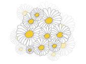 Fondo floral con flores — Vector de stock