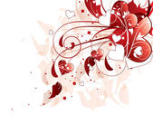 Tło czerwone miłości serca — Wektor stockowy