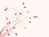 сезонные цветочный фон с завитками — Cтоковый вектор